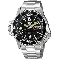 Seiko - SKZ211K1-5 Diver's - Montre Homme - Automatique Analogique - Cadran Noir - Bracelet Acier Gris