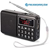 Best Am Radios - PRUNUS Portable SW / FM / MW MP3 Review