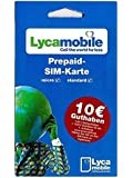 Lyca Mobile Prepaid Sim Karte + 7,50 Euro Startguthaben - Lycamobile