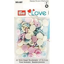Prym 393007Color snaps Prym Love Druckknopf Color KST 12,4mm rosa/hellblau/perle  ***BITTE PRODUKTBESCHREIBUNG BEACHTEN***