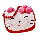 Scheppend Little Girls Cute Princess Bow Strip Bead Messenger Shoulder Bag Handbag Purse