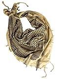 Black Snake Palituch Shemagh Palästinensertuch Arafat in verschiedenen Farben Beige/Schwarz OneSize