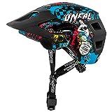 O'Neal Defender 2.0 Wild Fahrrad Helm All Mountain Bike Enduro MTB Magnet Verschluss, 0502-88, Schwarz, Größe XS/M