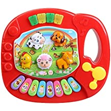 Juguete de piano - SODIAL(R)Piano de granja de animal educativo musical de ninos bebe Juguete de musica del desarrollo