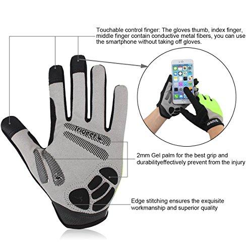 Trideer Fahrradhandschuhe mit Handgelenkstütze - 3