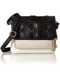 c61b29dc3d Fossil Damentasche ? Kinley Small Crossbody, Sacs bandoulière femme, Blanc  (White/black