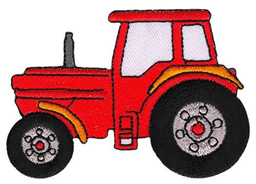 Patch Traktor Trecker Rot Schlepper Aufnäher Bügelbild 8,4 x 5,9 cm
