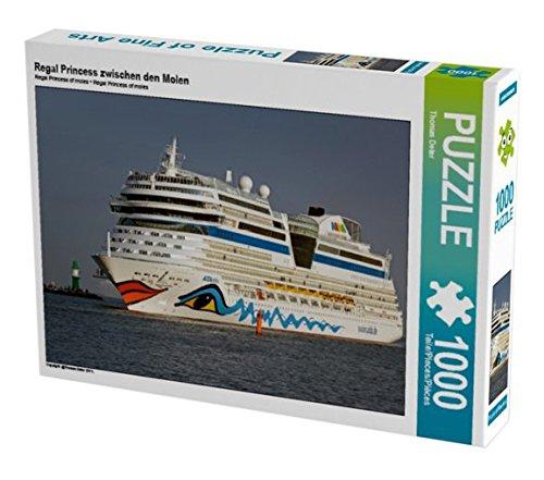 Preisvergleich Produktbild Aida Bella in der Hafeneinfahrt Warnemünde 1000 Teile Puzzle quer (CALVENDO Mobilitaet)