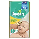 Pampers Windeln New Baby, Gr. 2 mini 3-6 kg, 1er Pack (1 x 44 Stück)