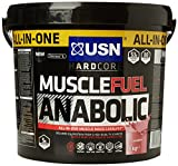 USN Muscle Fuel Anabolic 4 kg,Powerful All-In-One Shake,Supports Muscle Performance,Supports Muscle Recovery and Growth (Chocolate)