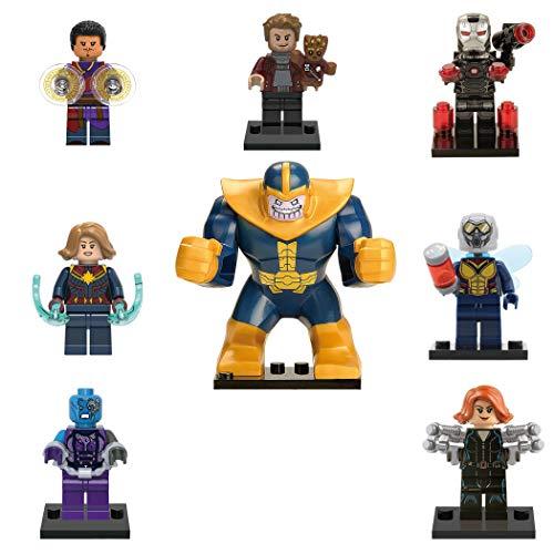 XH 8 Minifiguras de Avengers Endgame. 4 Modelos (Kit Thanos)