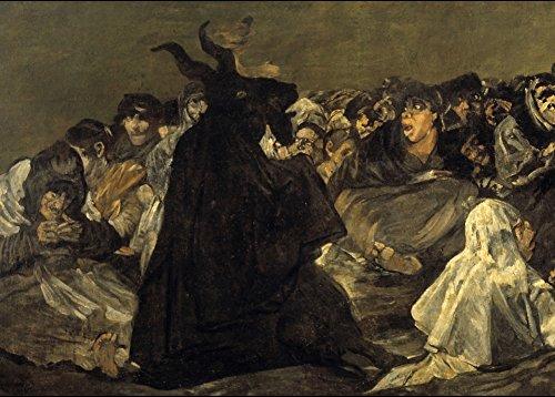 vollkornschnitte/dämonologie, Hexerei, Occult & Magick Die Coven, Detail, aus der schwarz Gemälde von Francisco Goya C1819-23250g/m², A3, glänzend, vervielfältigtes Poster (Demon Magic-karten)