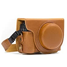 MegaGear MG977 Ever Ready Leather Camera Case and Strap with Battery Access for Canon PowerShot G7 X Mark II