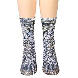 Bescita Women Men Socks---Adult Unisex Funny Animal Paw Printing Socks---Crew Socks Sublimated Print Creative Knitting Socks