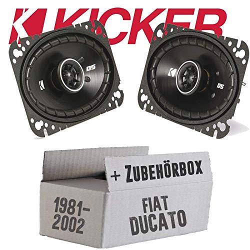 Kicker DSC460-4x6 Zoll (10x16cm) Oval Koax Lautsprecher - Einbauset für FIAT Ducato 230 Front - JUST SOUND best choice for caraudio - Audio-4x6