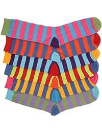 Herren Socken, leuchtende Sommerfarben, gestreift, 6 Paar