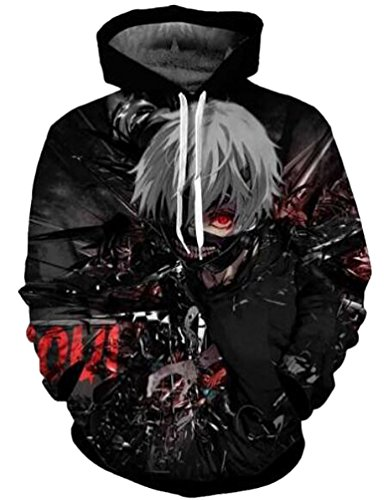 Brinny Anime Hoodie Pullover Kapuze Kapuzenpullover Pulli Kostuem Sweaters Hoodie Sweatshirt Kapuzenpulli Sweatshirt Fitness Sport Gym