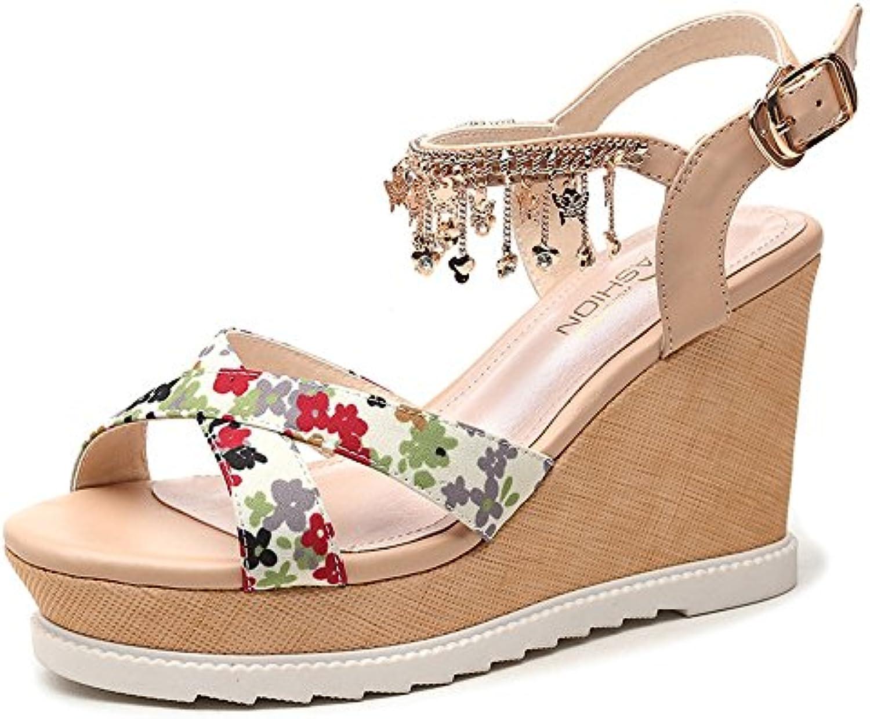 Chanclas MEIDUO sandalias Zapatos de mujer Spring Summer Comfort Platform cuña hebilla para el vestido de oficina...