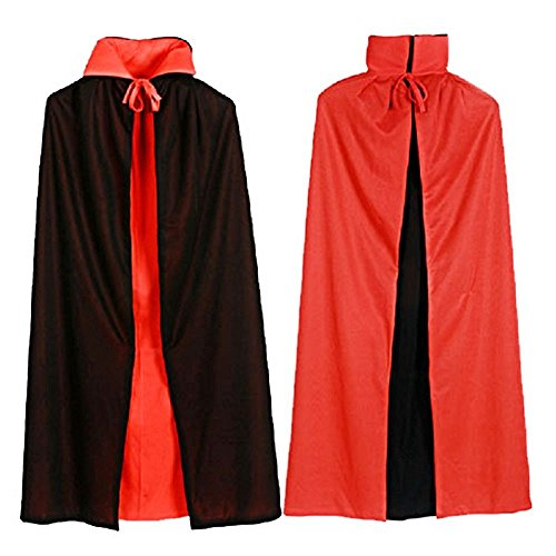 Leisial 1 PCS Vampire Halloween Cool Umhang Guizen Cape mit Kapuze Umhang Graf Dracula Deluxe 140cm