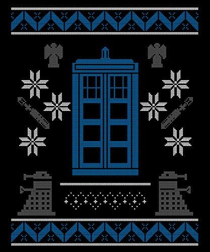 -- Wibbly Wobbly Christmas -- Boys T-Shirt Schwarz