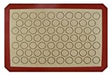 Homankit Silicone Non Stick Baking Mat / Macaron Mat / Cookie Mat, Baking Tray Liner Red | 29.5x42cm Brown Surface Fits for Half Sheet | Reusable, Flexible, Non-Stick, Easy To Clean Baking Sheet Liner | Healthy Cooking Mat / Kitchen Mat,BPA free and FDA and LFGB