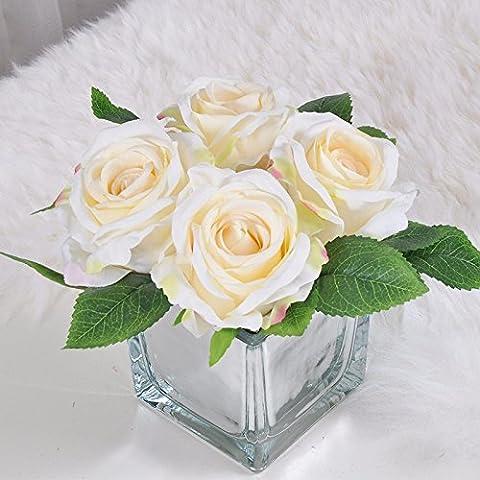 KAI-das wohnzimmer tisch rose blumen floral anzug moderne blumengesteck tabelle 4 weißen quadrat - (Essbare Arrangements Weihnachten)