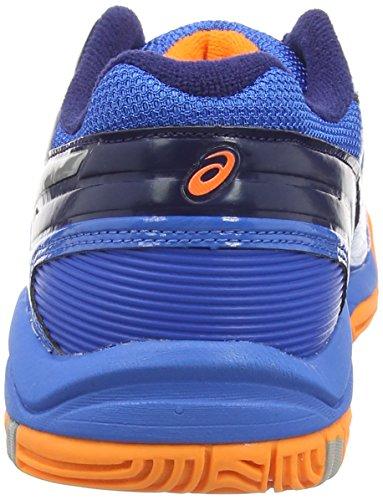 Asics Gel-blast 6 Gs, Chaussures Multisport Indoor Mixte adulte Bleu (electric Blue/silver/hot Orang 3993)