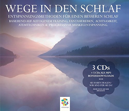 WEGE IN DEN SCHLAF * 3CDs: Entspannungsmethoden für einen besseren Schlaf * Basierend auf Autogenem Training, Fantasiereisen, Achtsamkeit, Atemtechniken & Progressiver Muskelentspannung.