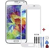 Front-Scheibe Displayglas für Samsung Galaxy S5 Mini Weiß mit Werkzeug
