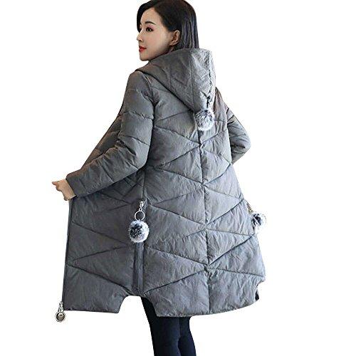 Ghemdilmn Damen Winterjacke Wintermantel Lange Daunenjacke Jacke Outwear Frauen Warm Daunenmantel Solide Tasche Reißverschluss Lässig...