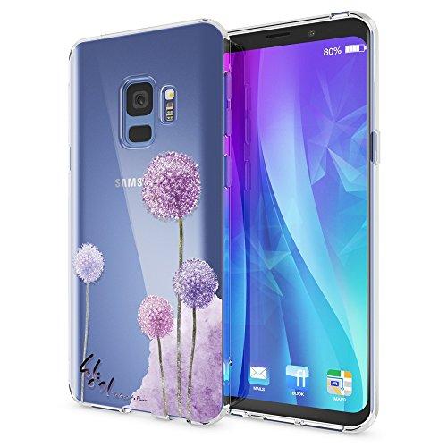 NALIA Handyhülle kompatibel mit Samsung Galaxy S9, Slim Silikon Motiv Case Crystal Schutzhülle Dünn Durchsichtig, Etui Handy-Tasche Back-Cover Transparent Bumper, Designs:Dandelion Pink