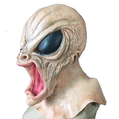 Zum Gruselige Verkauf Masken (Masquerade Masken Halloween Party Masken Latex Jaffaite Plastik Mardi Gras Masken Lustig Scary Haunted Haus Best Gesichtsmaske Kopfbedeckung Dekorationen Moive Film Alien)