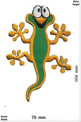 Patch - Salamander - Cartoon - Kids Patch - Tiere - Kinder Patch - Patches - Aufnäher Embleme Bügelbild Aufbügler