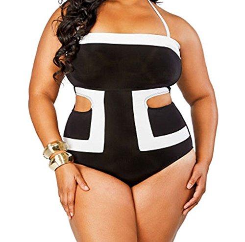 bling-bling-contrast-white-detail-cutout-1pc-plus-size-swimsuitsizexl