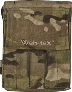 Web-Tex Heavy Duty 1000D Cordura A6 Notepad Holder Belt Pouch - MultiCam Camo