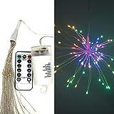 HC-eleven Feuerwerk Lichterkette mit Fernbedienung Batterienbetrieben LED Beleuchtung 120 LEDs 8 Modi Wasserdicht Weihnachten DIY Dekoration Farbenwechsel