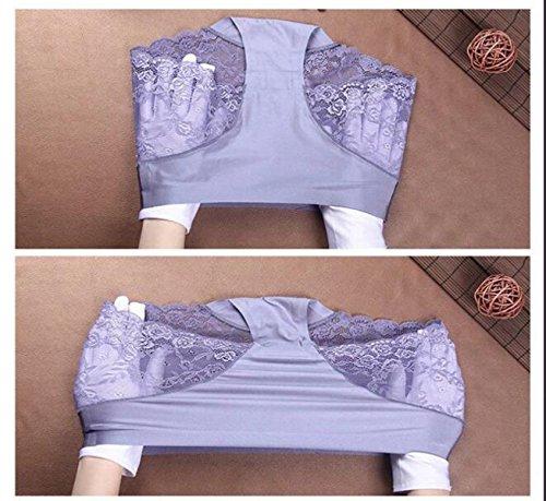 Frauen-Eis-Seide Ohne Eine Spur Unterwäsche-reizvolle Spitze-Gewebe-Baumwolle Stalls Angle Pants Taille (3 Sätze) A16