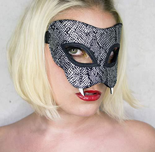 Maske *Silver Snake* - Schlange | Schlangenmaske | Schlangenprint | Karneval | Fasching | Schlangenkostüm | Cosplay | Halloween