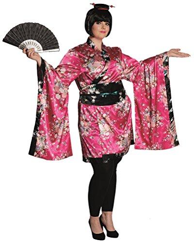 Kostüm Geisha Kimono Japan Kostüm Karneval Kimono Damenkostüm Größe 46/48 (Kimono Kostüm Plus Size)