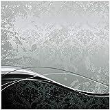 Wallario Möbeldesign/Aufkleber, geeignet für IKEA Lack Tisch - Grau-Schwarze Schnörkelei mit Wellen in 55 x 55 cm
