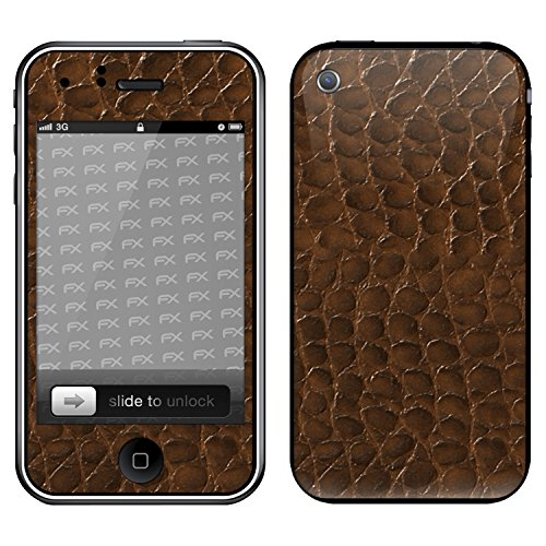 "Skin Apple iPhone 3Gs ""FX-Variochrome-Pearl"" Designfolie Sticker FX-Everglade-Brown"