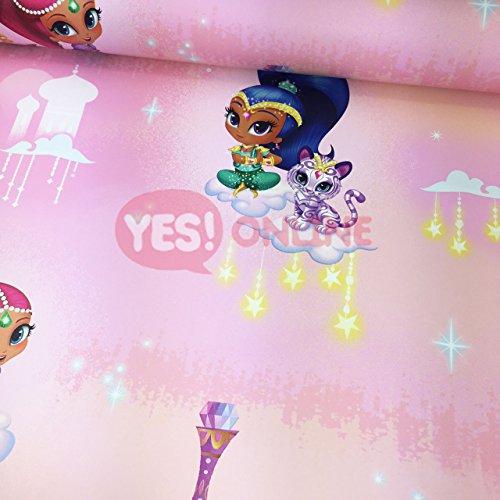 Shimmer Shine Wallpaper Princess Girls Bedroom Tiger Stars