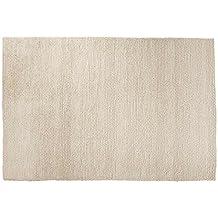 Ayush: Hermoso blanco de lana Alfombra hecha a mano en la India Comercio Justo grandes y pequeños guisantes Tamaño heno (250cm x 300cm / 8' 2.42'' x 9' 10.1'')