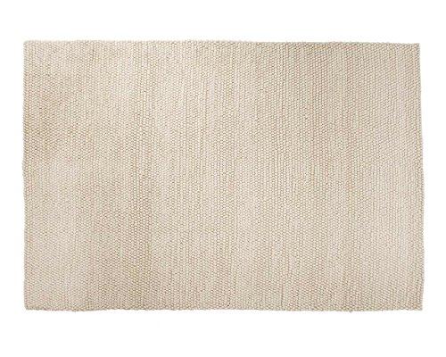 Ayush: Schöne weiße Wollteppich Handgefertigt in Indien Fair Trade Large und Small Size Hay Peas (80cm x 100cm / 2' 7.5'' x 3' 3.4'')