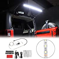 RT-TCZ Rear Glass Lift Gate LED Hatch Dome Light Bar for 2007-2020 Jeep Wrangler JK JKU JL JLU Great for Camping Fishing and Other Outdoor Activities