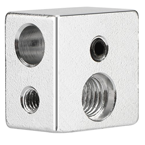 Richer-R Bloque del Calentador Especializado de 3D Printer,MK10 Calefacción Bloque de Aleación de Aluminio para Impresora 3D Extrusora Universal(20 * 20 * 13 mm)