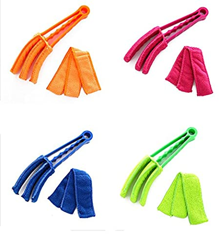 Venetian Blind Cleaner APMAX Blind Duster Window Cleaner Brush 4 pcs Removable Washable Dust Collector Cleaning Cloth Tools for Window Shutters Air