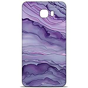 ezyPRNT Samsung Galaxy C9 Pro Soft Silicon Mobile Back Case Cover with Purple Marble Design