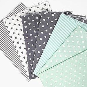25ce225394df93 Sugarapple Baumwollstoff Stoffpaket für Patchwork DIY 7 Stücke je 50 cm x  70 cm, Stoff