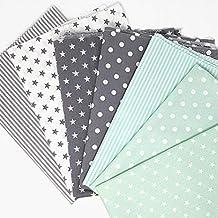 5dd4256279bbc2 Sugarapple Baumwollstoff Stoffpaket für Patchwork DIY 7 Stücke je 50 cm x  70 cm